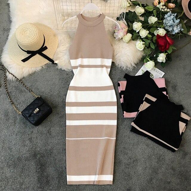 Fashion Striped Stretch...