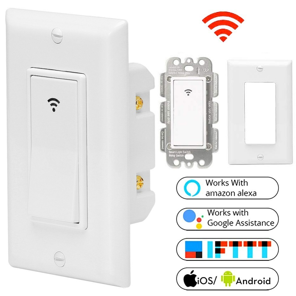 Remote Control Light Switch Wall Panel Wireless Smart Touch ON OFF Plate Work Intelligent Home 86 type one touch switch intelligent home wireless radio frequency remote control wall switch