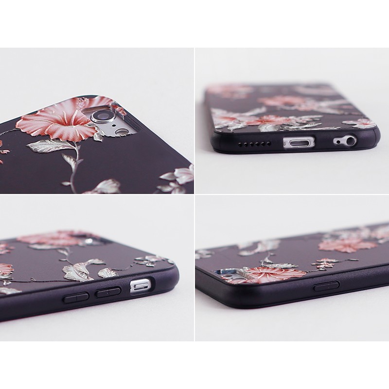 KISSCASE Soft Silicone Case For iPhone 5 5s SE Soft Flower Cover For iPhone 6 6s 7 8 Plus 5s Xr Xs Max Luxury Back Funda Capinha in Fitted Cases from Cellphones Telecommunications