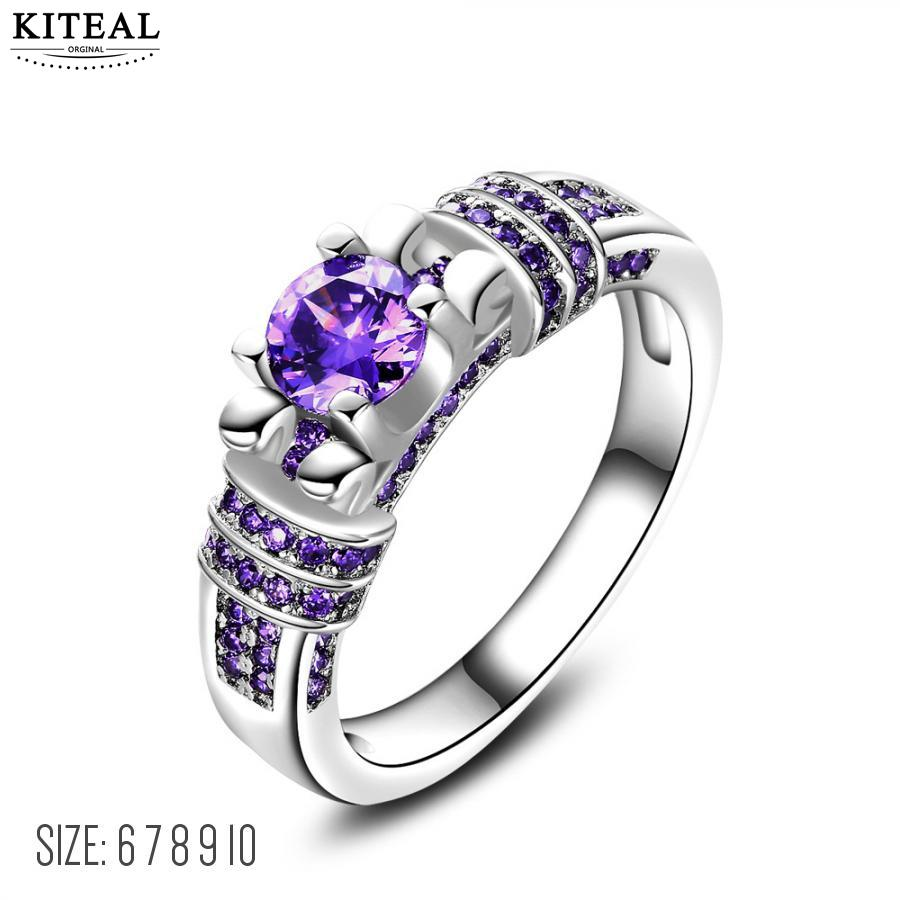 KITEAL High Quality size 10 6 7 8 9 Girl rings Purple ...