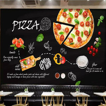 Black Italian Pizza Shop Western Restaurant Background Wall Professional Making Mural Wallpaper Custom Poster Photo Wall free shipping custom wallpaper mural retro japanese traditional culture restaurant sushi shop background wall painting deco
