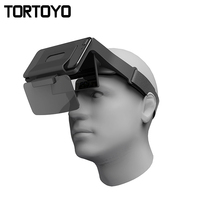 TORTOYO Portable Augmented Reality AR Glasses Virtual Reality 4K Ultra HD 3D Gaming Film Helmet for iOS Android Phone PK VR