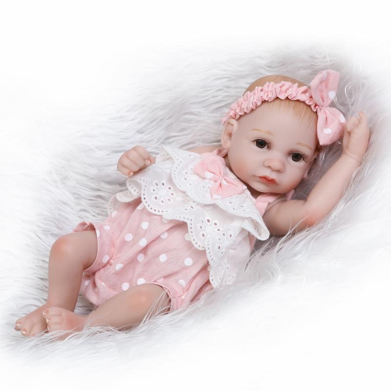 Reborn Baby Doll Full Silicone Anatomically Correct Tiny