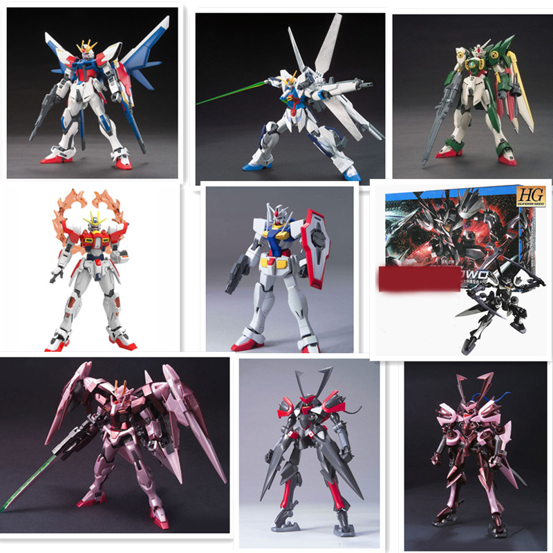 1:144HG Gundam Seven Swords fate  cartoon Gundam 30CM model Robot child Puzzle assemble Action Figure boy toy Anime gaogao model осциллограф hantek 6022be usb storag 2channels 20 48msa s