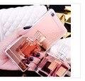 Efeito de espelho de luxo caixa do telefone para huawei p8 lite p9 p9lite suave tpu capa protetora para huawei p9 p8 lite shell