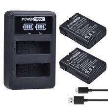 2x 1500mAh EN-EL14 EN-EL14a EN EL14 ENEL14 Battery+LED Dual USB Charger for Nikon D90 D300 D5300 D5200 D5100 D3300 D3200 D3100