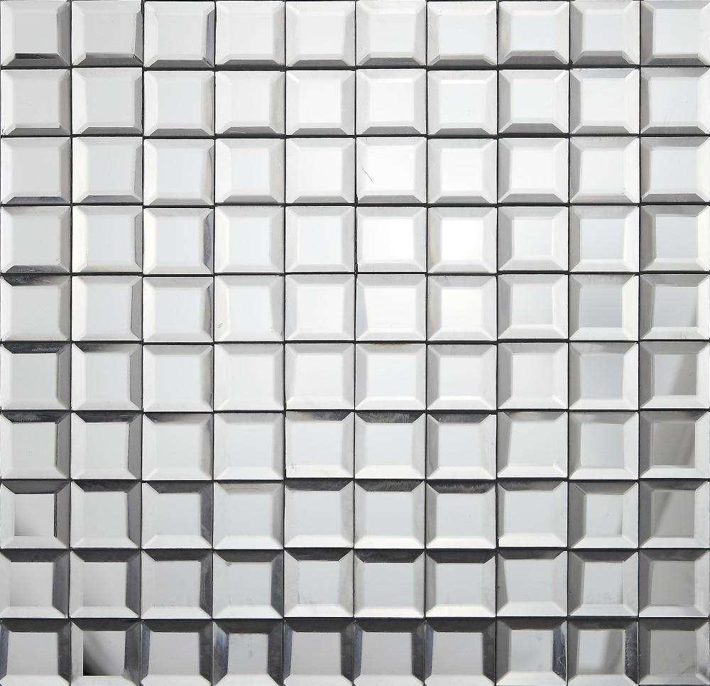 5 края скошенный Diamond Сияющий зеркало Стекло мозаика, щитка Плитки для Кухня/Ванная комната/Кабинет стена, LSMR3001