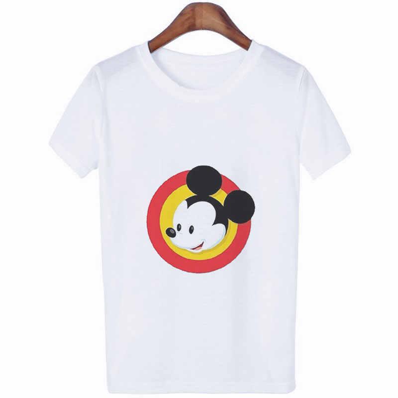 Verão 2019 camisetas de impressão de rato camisetas femininas tumblr streetwear vogue tshirt kawaii harajuku casual das senhoras t camisa