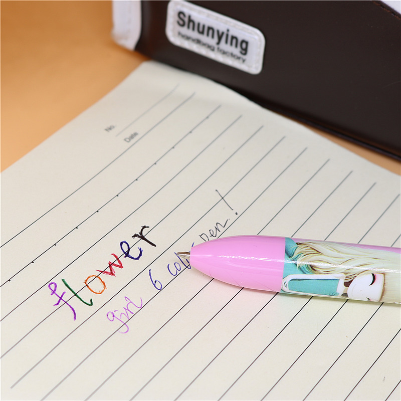 1PC 6 Colors cute girls pen Creative Stationery Kawaii Ballpoint Pen Office School Supplies