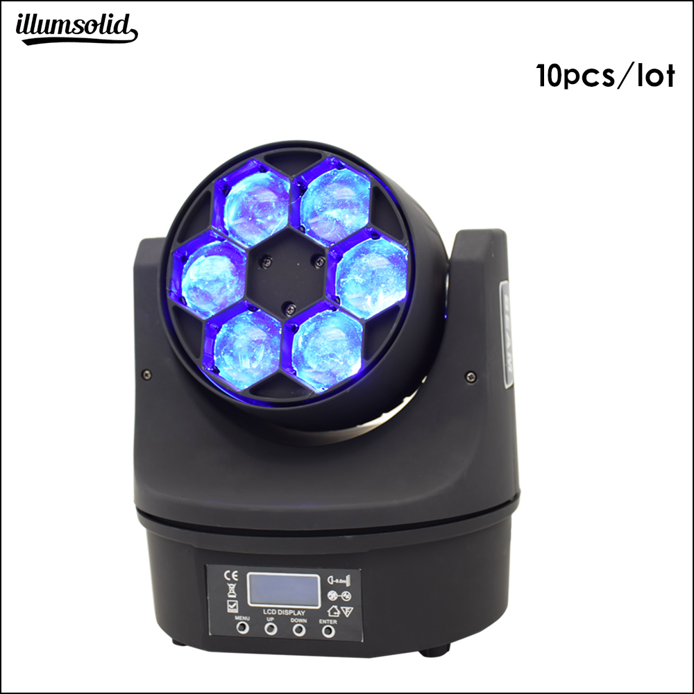 Infinitely rotating lens 6x15w bee eye Stage effect light dmx moving head beam light (10 pieces/lot)Infinitely rotating lens 6x15w bee eye Stage effect light dmx moving head beam light (10 pieces/lot)