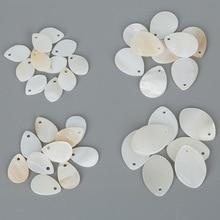 White-Shell Charm-Pendants Jewelry-Making Natural for Earring DIY Fashion Drop-Shape