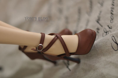 Lady Brown Cross Shoelace High Heel Girl Shoes For BJD SD16 SD13/10 Flat Foot DD Doll Shoes SW13 exclusive handsome martin boots for bjd 1 3 sd10 sd13 sd17 uncle ssdf id ip eid big foot doll shoes sm9