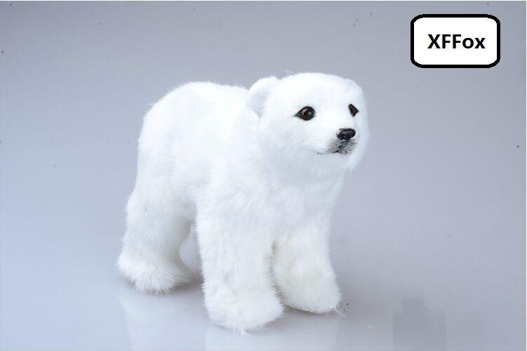 cute simulation polar bear model polyethylene&furs white doll gift about 20x8x14cm xf1933