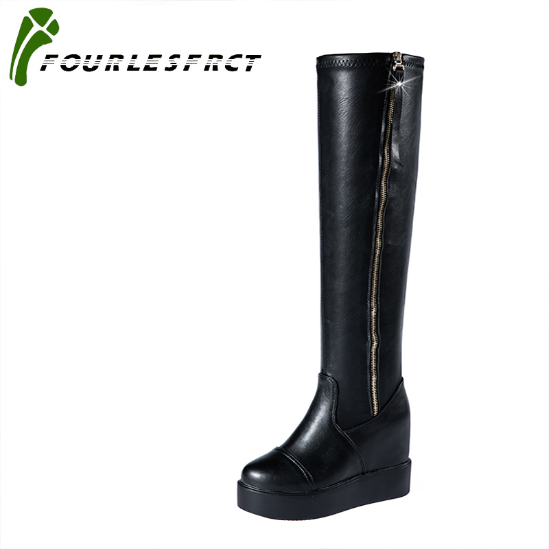 2017 Black Slim Boots Sexy over the knee high Suede women snow boots women's fashion winter thigh high boots shoes woman 35-40 ppnu woman winter nubuck genuine leather over the knee snow boots women fashion womens suede thigh high boots ladies shoes flats