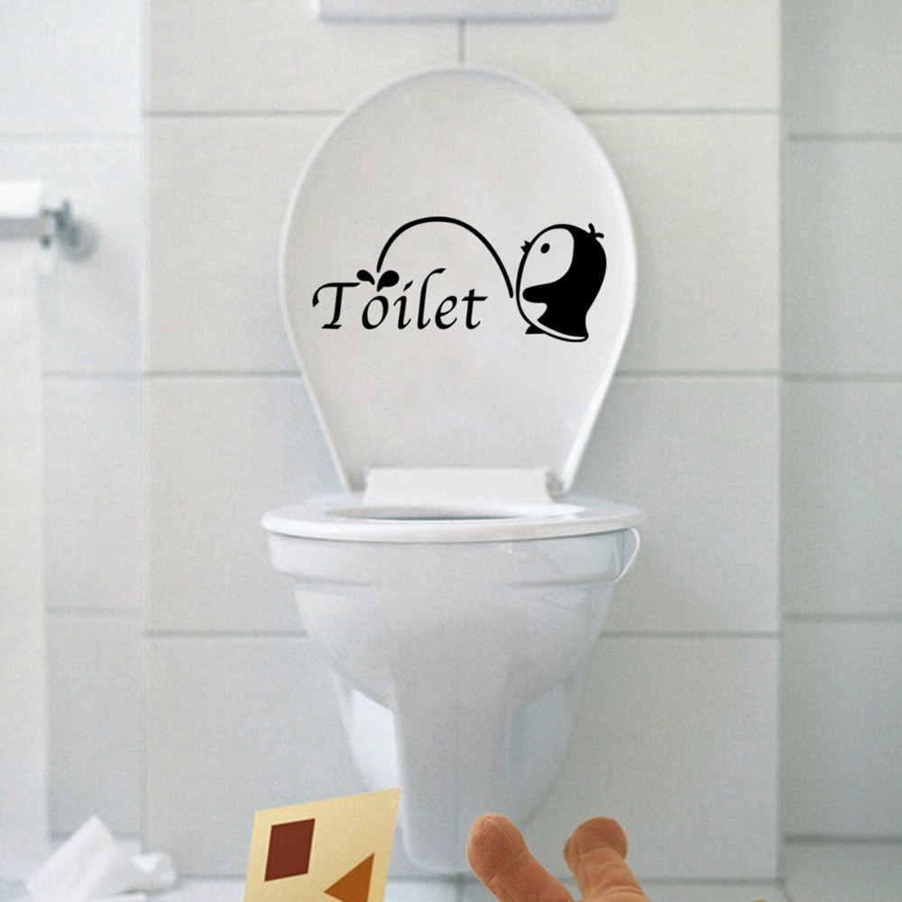 Home & Garden 2019 Latest Design Removable Penguine Bathroom Toilet Close Stool Cover Wall Stickers Decor Decorative Art Home Decals Pvc Waterproof Wallpaper Packing Of Nominated Brand Home Decor