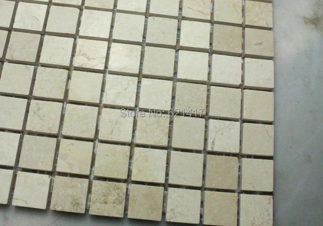 Spedizione gratuita egitto beige pietra di marmo a mosaico