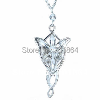The Arwen Evenstar Pendant/Necklace Platinum plated from The Lord of the Rings Fashion Jewelry Free Shipping Promotion mejores fotos hechas en photoshop