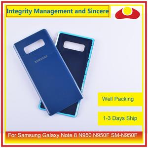 Image 5 - Original For Samsung Galaxy Note 8 N950 N950F SM N950F N9500 Housing Battery Door Rear Back Glass Cover Case Chassis Shell