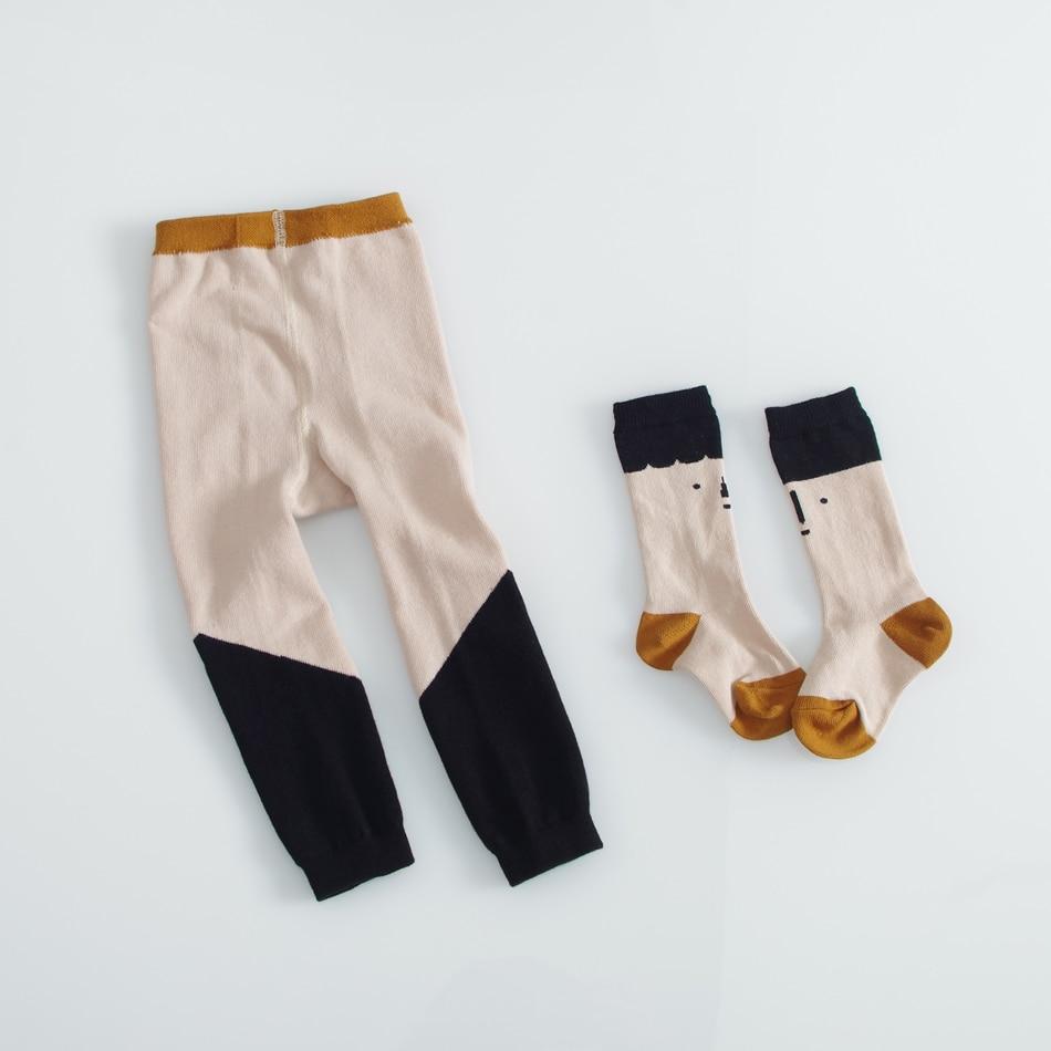 3cf8b6ddbd189 MYUDI-Coton Filles Automne Hiver Collants avec Bébé Meia Enfants Bébé  Pantalons Longs Collants Pour Enfants Bambin Pantalons Garçons pantalon