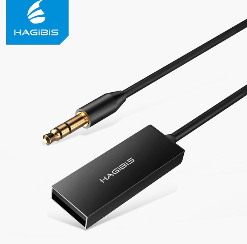 Hagibis Bluetooth Récepteur AUX Audio 3.5mm Stéréo Musique Sans Fil Récepteurs Pour Voiture Haut-Parleur Casque Bluetooth Adaptateur Mains Libres