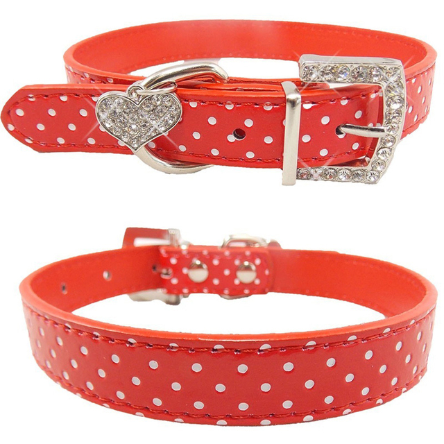 Animali domestici Cane di Polka Del Collare Del Modello di Puntino Accessori Del
