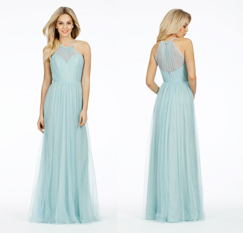 Long Light Blue Bridesmaid Dresses Vestdio Madrinha De Casamento Tulle Dress For Party Of Marriage In From Weddings Events On