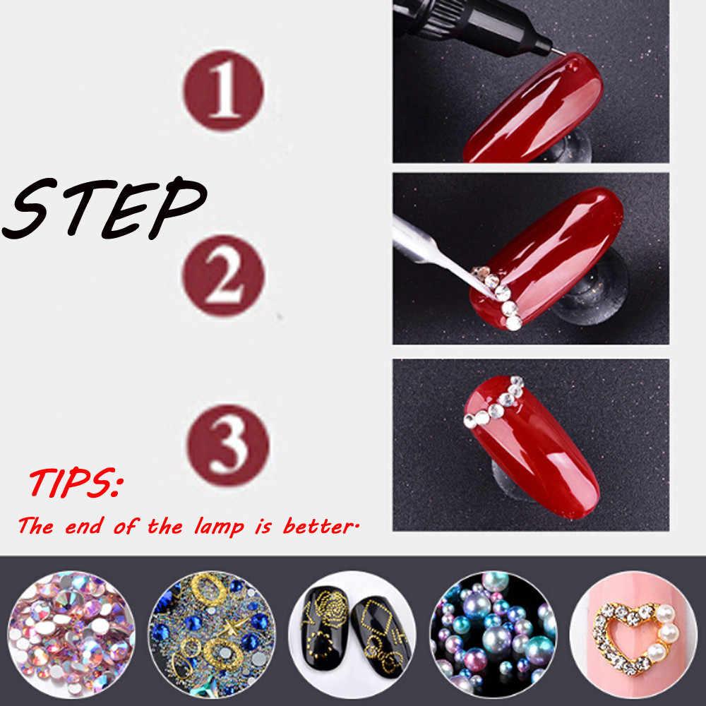 Волшебный кисти для макияжа магазине ногтей гель Клей для Rhinestone польский клей для советы Led клей ленты 2018 Step.11