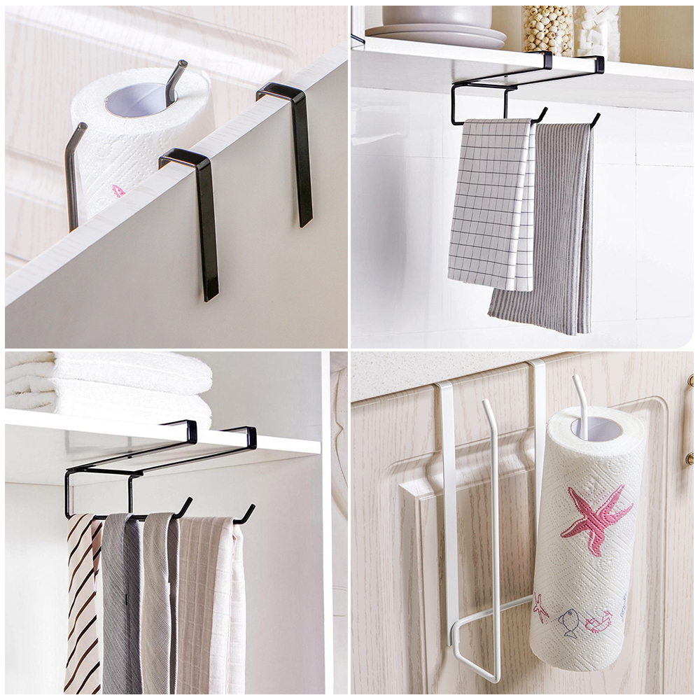 Bathroom Kitchen Storage Door Rack Five Hooks Hanging Holders Towel Hangers L