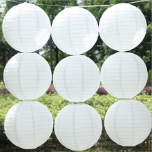 1pcs Round Paper Ball Lamp Chinese Paper Lantern Balloon Home Festival Wedding Birthday Party DIY Decoration Supplies Paper Ball