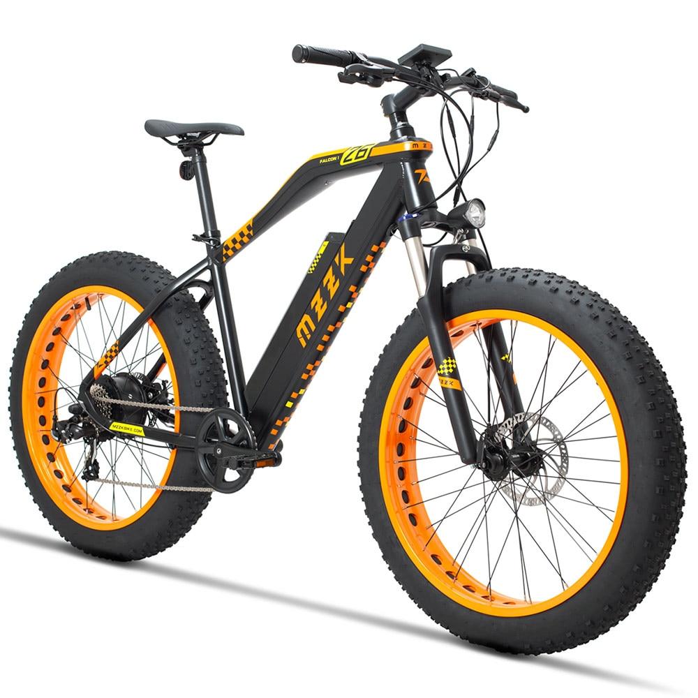 mzzk 26 fat bike 48v 13ah lithium battery 500w powerful motor electric moutain bike snow bike. Black Bedroom Furniture Sets. Home Design Ideas