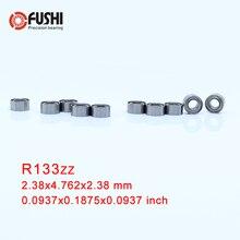 """R133zz подшипник ABEC-1(10 шт.) 2,38*4,762*2,38 мм шайбовый подшипник с глубоким R133 Z zz, шариковые подшипники 3/3"""" x 3/16"""" x 3/3"""" дюймовый R133z Beairng"""