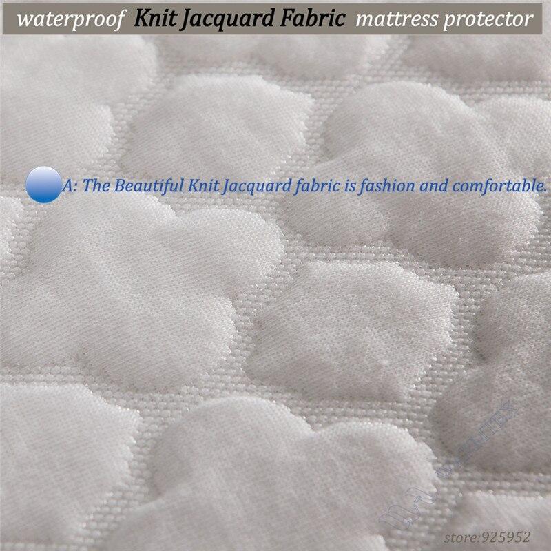 200x200cm king size beautiful jacquard cloth waterproof mattress cover pad protector various mattress height