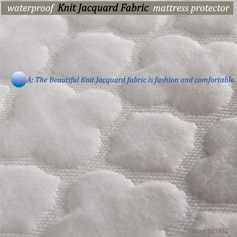 200x200cm king size beautiful jacquard cloth waterproof mattress cover pad protector various mattress height A