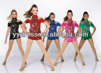 New Style Colourful Hip Hop Dance Costumes For Girls Tap Dance Costumes Ballroom Dance Dresses For Sale Cheer Dance Costumes