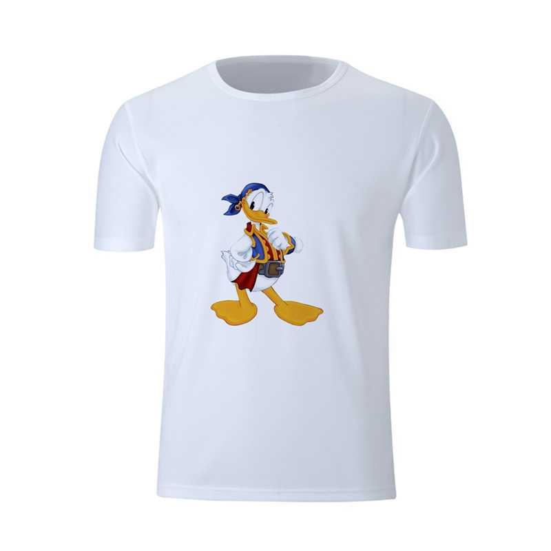 מגניב קיץ דונלד ברווז מצחיק Cartoon גרפיקה אמנות מודפס עגול צוואר קצר שרוול חולצה מעורבב זיעה סופגת כושר חולצה