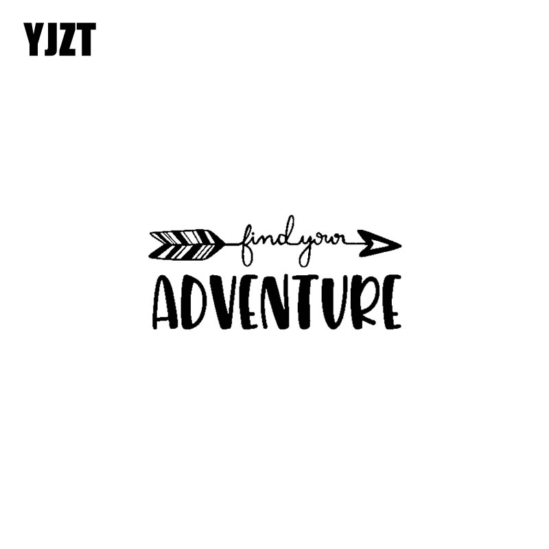 YJZT 17.8CM*8CM Find Your Adventure Vinyl Car Sticker Decals Black/Silver Motorcycle C13-000395