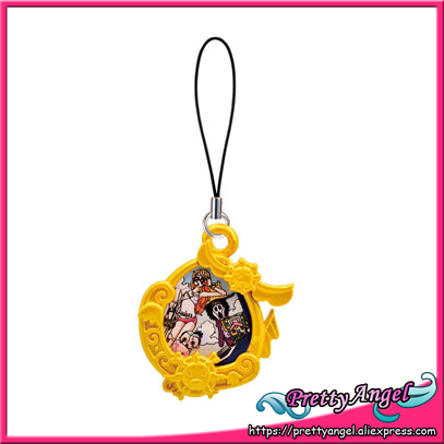 Asli Bandai One Piece Lucu Mini Gantungan Kunci Gashapon Gambar
