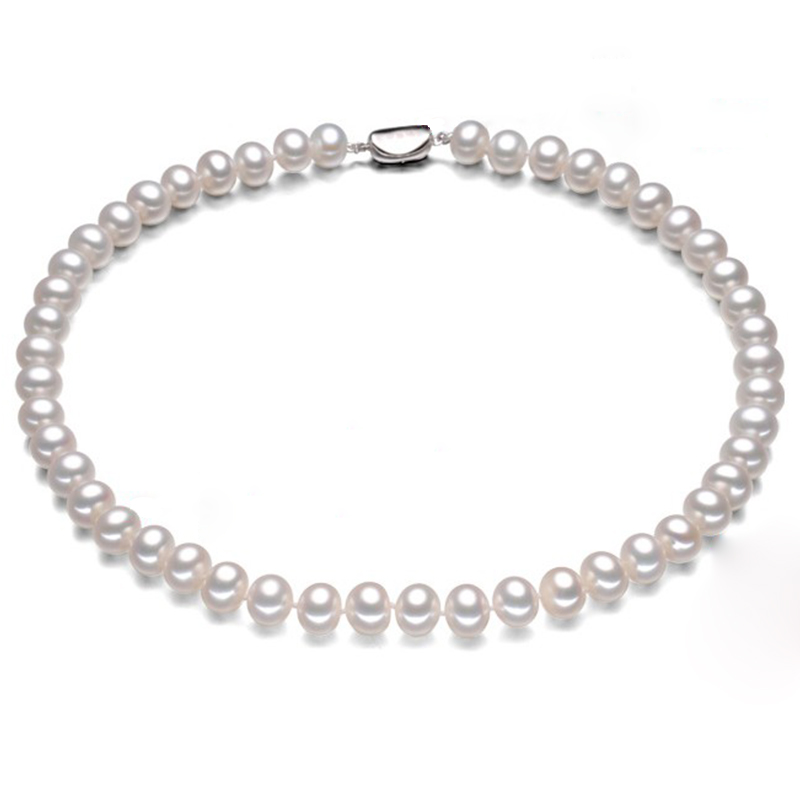 RUNZHUQIYUAN 2017 100% natural freshwater pearl choker necklace 925 sterling Silver jewelry For Women for girls Best Gifts