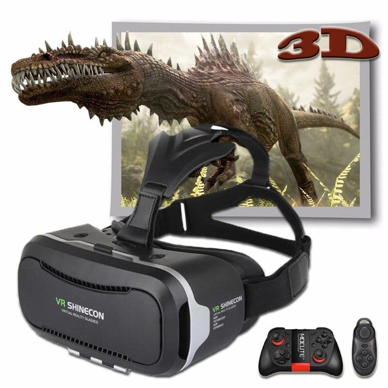 Shinecon 2.0 VR Pro версии виртуальной реальности 3D Очки гарнитура Google картонной коробке 3.0 фильм игры для 4.7-6 дюймов телефон + пульт дистанционного