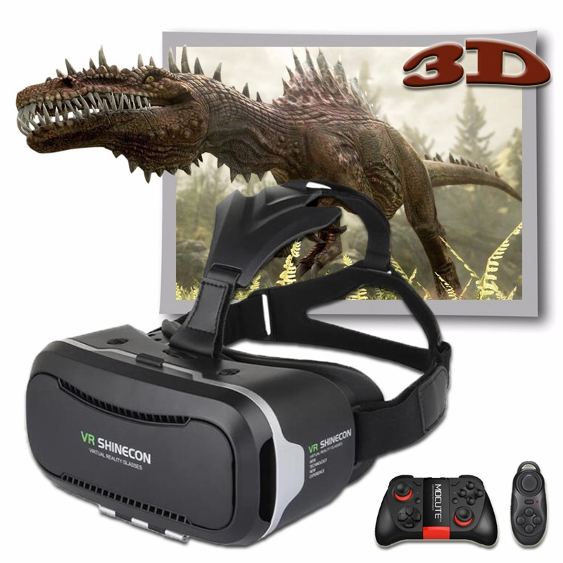 Shinecon 2.0 <font><b>VR</b></font> Pro Version <font><b>Virtual</b></font> <font><b>Reality</b></font> 3D <font><b>Glasses</b></font> <font><b>Headset</b></font> Google Cardboard BOX 3.0 <font><b>Movie</b></font> Game For 4.7-6 inch Phone + Remote