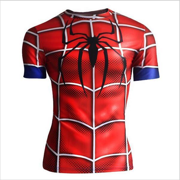 Spiderman 3D Printed T Shirt Captain America Civil War Tee Men Avengers Short Raglan sleeve Fitness Cosplay Slim Fit Tops Male