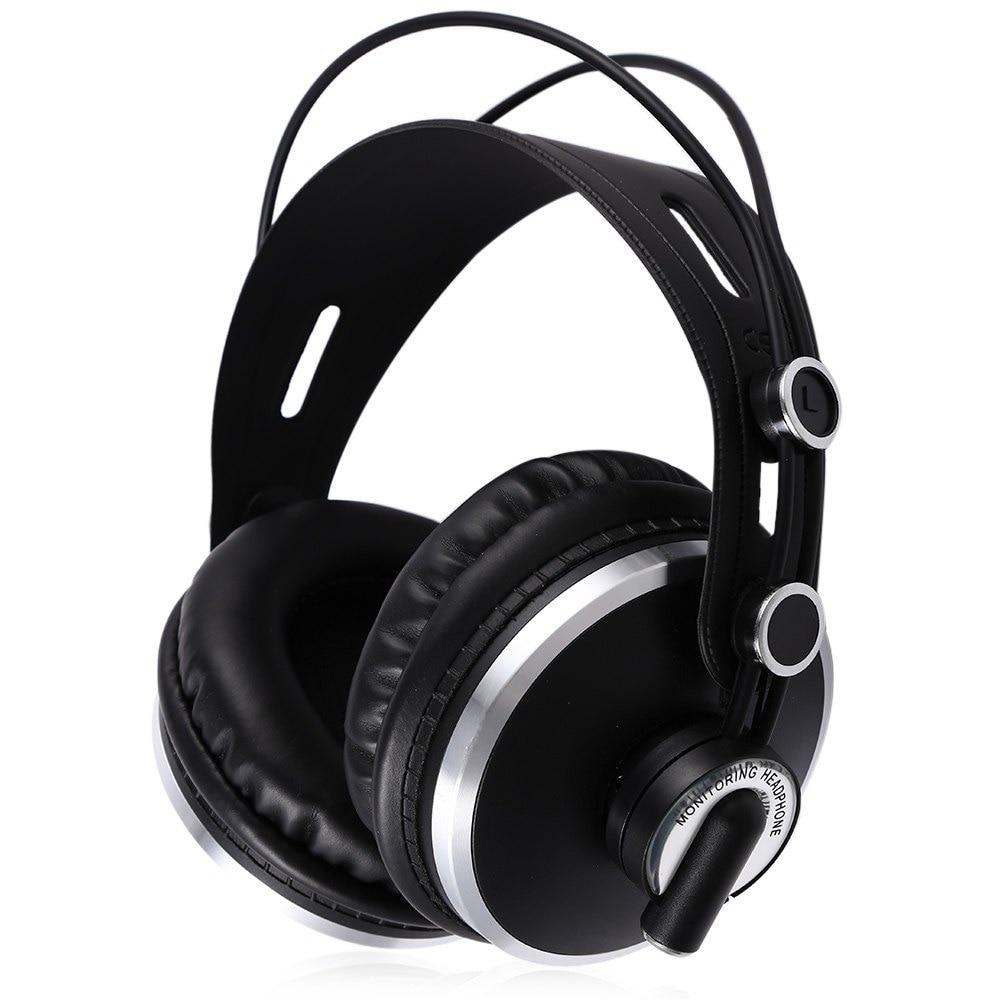 ФОТО ISK Professional Monitor Black Color Headset Unique Design Durable Headband Stereo Dynamic DJ Earphone Headphone For Computer