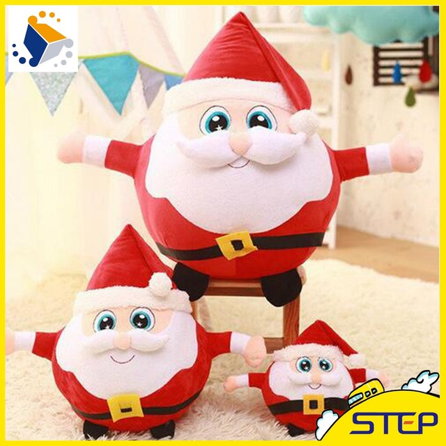 2016 free shipping multisize christmas santa claus plush toy father christmas stuffed doll baby toys xmas