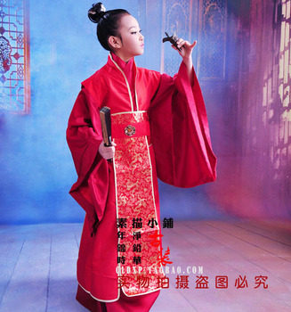Shu Jian Gong Zi Book Sword Scholar Little Boy Costume Many Colors Zhuge Liang Costume