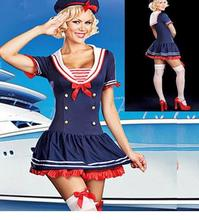 Dower Me 2017 Ladies Miss Sailor Sea Fancy Dress Costume Outfit Sexy Fashion Role Play Female Halloween Cosplay Costume W438049