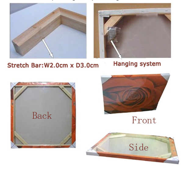 Wooden frame canvas Wooden Stretcher bar 3.0 cm deep inner framed ...