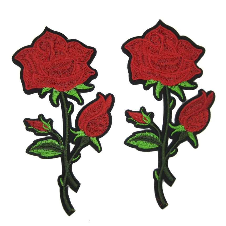 Free shipping new pc nice rose patch for clothing