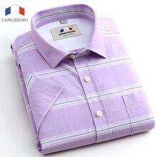 Langmeng 2016 Summer New Arrival Men'S Clothing Hot-Selling Short-Sleeve Shirt Casual Slim Fit Stylish Men's Dress Shirts Camisa