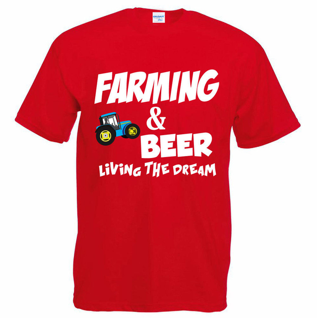 1ff491c2ca871 US $14.24 5% OFF|Men's Street Style Men's Farm & Beer Farmer / Tractor /  Farm / Funny Gift Ideas Men's Tee Shirt Design-in T-Shirts from Men's ...