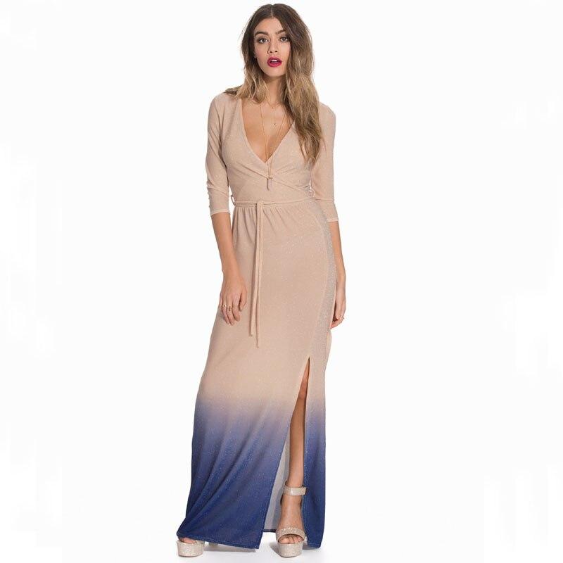 Cheap Clothes Designer   New Long Sleeve Women Dress Summer Unique Design Casual Maxi Dress